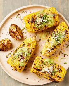 Yotam Ottolenghi's grilled corn with avocado butter, grilled limes and aleppo chilli Yotam Ottolenghi, Ottolenghi Recipes, Veg Recipes, Curry Recipes, Gourmet Recipes, Snack Recipes, Cooking Recipes, Healthy Recipes, Recipies