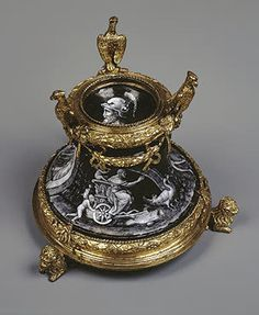 Salt-Cellar: Juno Riding a Chariot   Courteys, Pierre.   France, Limoges. Second half of the 16th century