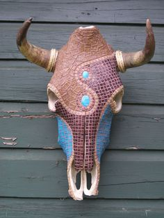 Cow Skull Wall Decor Mosaic ArtPRICE REDUCED