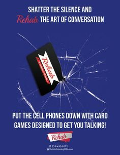 We create card games that get you to put the cell phone and technology away and connect with face to face communication.