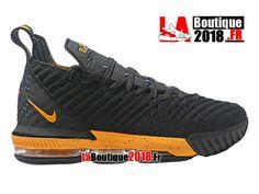 Nike Lebron 16 EP LBJ Noir/Jaune Chaussures Officiel Nike Basket Prix Pour Homme