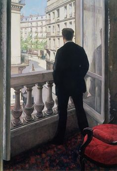 Man at the Window. 1875, by Gustave Caillebotte