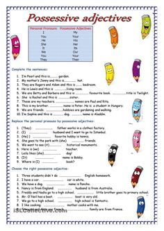 Adjectives | FREE ESL worksheets