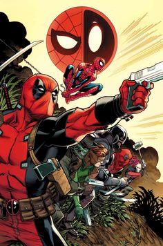 #Deadpool #Fan #Art. (Spider-Man/Deadpool Vol.1 #3 Cover) By:  Ed McGuinness. (THE * 5 * STÅR * ÅWARD * OF: * AW YEAH, IT'S MAJOR ÅWESOMENESS!!!™)[THANK U 4 PINNING!!!<·><]<©>ÅÅÅ+(OB4E)