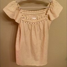 LaRok Gold Threaded Top Sold. LaRok gold threaded top. Size XS but loose relaxed fit makes it more like S LaRok Tops Blouses