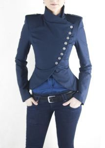 I need this in my life!!! ON SALE DIna Jacket Navy by lauragalic on Etsy, $139.99