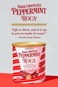 Here's to chocolate and peppermint and evenings spent 'round the fire. Stock up on iconic treats to sweeten your season at www.brown-haley.com! Almond Roca, Chocolate Quotes, Toffee Candy, Sweet Quotes, Life Is Short, Gourmet Recipes, Peppermint, Seasons, The Originals