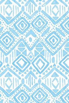 light blue tribal print
