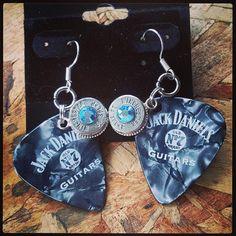 Jack Daniel's Bullet Earrings by GunpowderAndGlitz on Etsy, $20.00