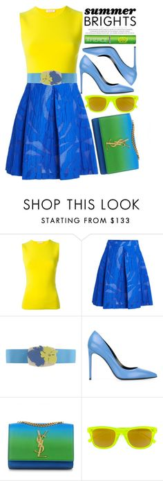 """Summer Brights"" by alaria ❤ liked on Polyvore featuring P.A.R.O.S.H., Yves Saint Laurent, Tata Harper and summerbrights"