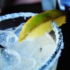 My margarita, on ice with salt and lime:)