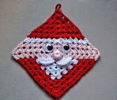 Transcendent Crochet a Solid Granny Square Ideas. Inconceivable Crochet a Solid Granny Square Ideas. Crochet Potholder Patterns, Holiday Crochet Patterns, Crochet Motifs, Crochet Dishcloths, Granny Square Crochet Pattern, Crochet Squares, Free Crochet, Crochet Granny, Knitting Patterns