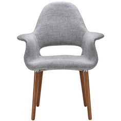 Unmistakably new and modern, the Barclay Dining Armchair offers a hint of retro style due to the long Catalpa Wood legs and beautiful twill fabric. The material used to upholster this stunning chair is delightfully superior.