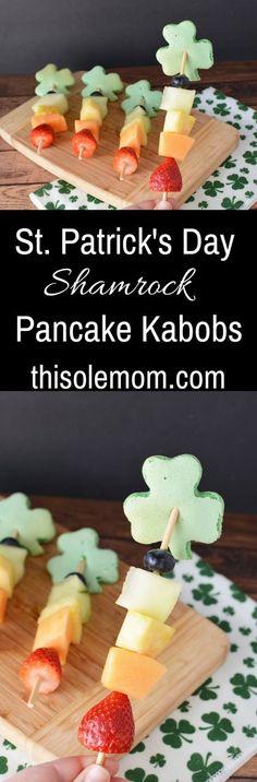 St. Patrick's Day Shamrock Pancake Kabobs
