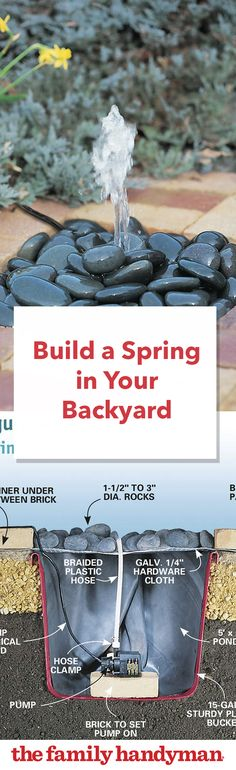 Build a Spring in Your Backyard