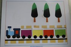Train preschool ideas