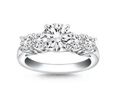 Five Stone Diamond Trellis Engagement Ring