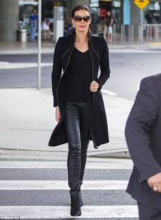 Making a statement:Megan Gale flaunted her flawless beauty as she strutted through Sydney...