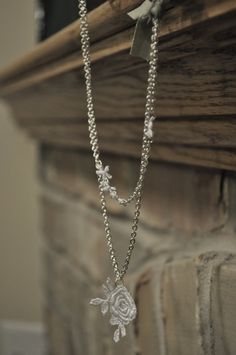 necklace made with lace