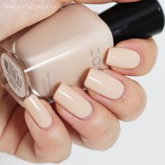 Zoya Chantal. A nude creme, slightly peachy undertones.