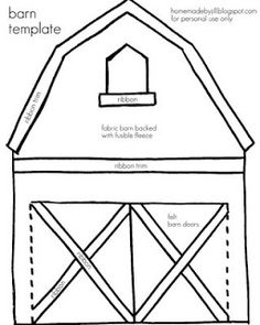 homemade by jill: quiet book templates. Barn and finger puppet template.