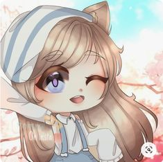Anime Drawing Styles, Anime Girl Drawings, Cartoon Art Styles, Cute Anime Chibi, Kawaii Anime Girl, Cute Characters, Cute Anime Character, Cute Eyes Drawing, Anime Wolf Girl