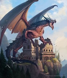 Beautiful pictures of dragons Dragon art and drawings Tiamat Dragon, Dragon Rpg, Fantasy Dragon, Fire Dragon, Mythical Creatures Art, Magical Creatures, Design Dragon, Mythical Dragons, Legendary Dragons