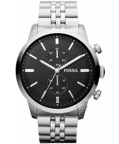 FOSSIL Chronograph Stainless Steel Bracelet, 149€ http://www.oroloi.gr/product_info.php?products_id=33602