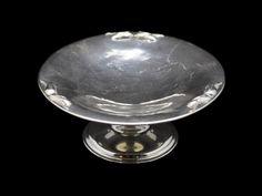 silver serving dishes   Petersen Silver Pedestal Serving Dish