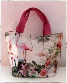 Flamingo Shopper Retro, Bunt, Flamingo, Ted Baker, Diaper Bag, Tote Bag, Vintage, Flamingo Bird, Diaper Bags