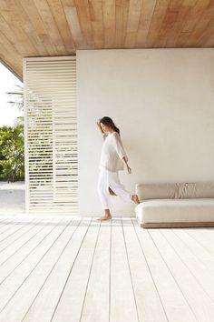 Pure Jill airy-weave kimono