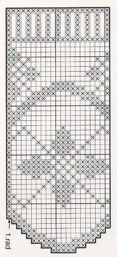 Skemmtilegt munstur Crochet Curtains, Crochet Doilies, Fillet Crochet, Thread Crochet, Crochet Patterns, Knitting, Valance, Crochet T Shirts, Crochet Designs