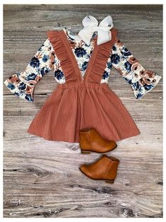 Toddler Fall Outfits Girl, Toddler Girl Style, Little Girl Outfits, Kids Outfits Girls, Little Girl Fashion, Toddler Fashion, Fashion Kids, Baby Style, Fashion Spring