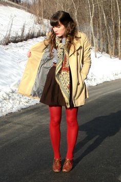 Oxfords, tights, high-waisted skirt = my typical outfit Navy Dress Outfits, Old Navy Dresses, Pretty Outfits, Beautiful Outfits, Cool Outfits, Fashion Moda, Womens Fashion, Nail Fashion, Winter Wear
