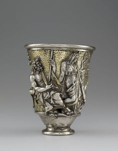 Beaker with Imagery Related to Isthmia and Corinth, 1 – 100. Roman. Silver and gold. Bibliothèque nationale de,Paris France .