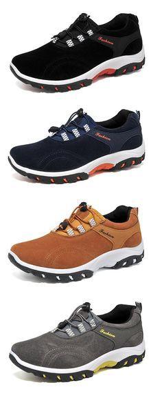 Men Elastic Laces Slip Resistant Breathable Outdoor Casual Sneakers Casual  Sneakers, Casual Shoes, Lace a5bb2519d3a