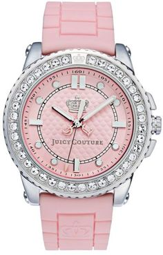 Juicy Couture Womens Pedigree Pink Jelly Strap in Pink