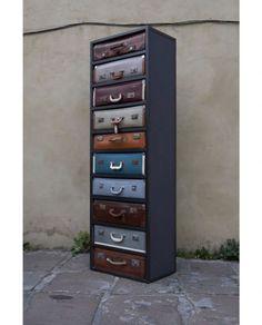 storage: vintage suitcases