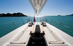 gorgeous mid-ship area on a Wally sailing yacht