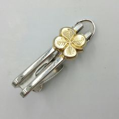 Check out this item in my Etsy shop https://www.etsy.com/listing/480683498/four-leaf-clover-tie-clip-good-luck-tie