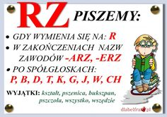 "Asia tu i tam: Zasada ortograficzna z ,,rz"" po spółgłoskach Aa School, Back To School, Learn Polish, Polish To English, Poland History, Polish Language, English Games, Girls World, Teaching English"