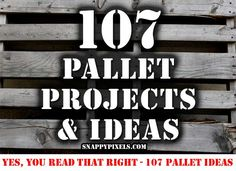 More than 100 ideas on what to do with wood pallets