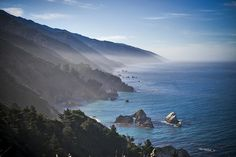 along the pacific coast highway just north of San Simeon, California