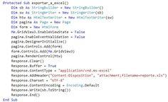 VBpuntoNet: Exportar GridView a Excel, Word y PDF