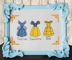 Disney cross stitch pattern Disney princess dress cross stitch