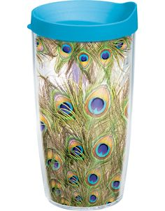 Peacock Feathers Wrap with Lid | 16oz Tumbler | Tervis®