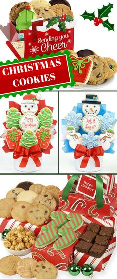 Christmas Cookie Gifts - Shop Now!  http://www.aagiftsandbaskets.com/Cookie_Gift_Bouquets_Christmas.html #ChristmasCookies