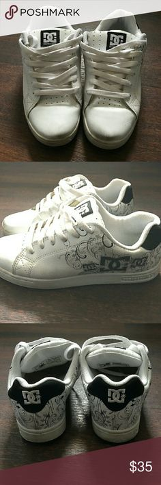 Women's DC shoes Great pair of DCs, black and white, perfect for every day wear. These have been loved but still in good condition. DC Shoes Athletic Shoes