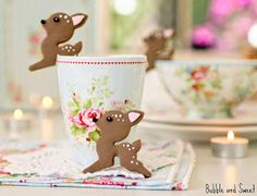Bubble and Sweet: Oh Deer these cup edge cookies are too cute