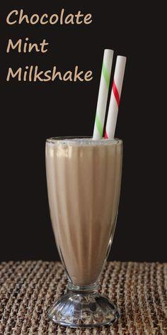 Chocolate Mint Milkshake